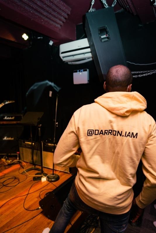 Album release hoodie back